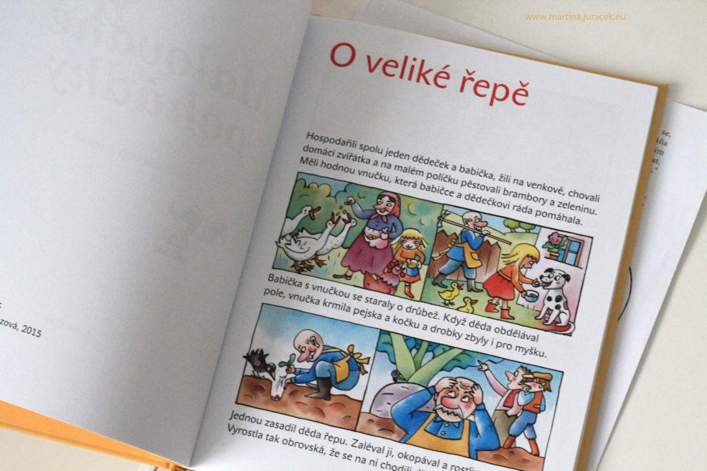 malované pohádky komiks kniha pro děti recenze